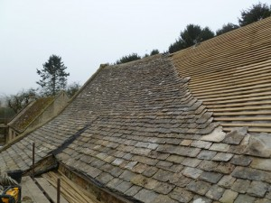 Cheltenham roofing - Retiling the barn roof