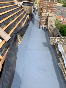 "alt=""fibreglass box gutter pitched roof"">"