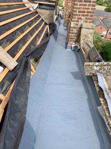 """alt=""""fibreglass box gutter pitched roof"""">"""