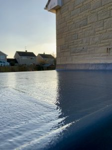 "alt=""GRP fibreglass flat roof covering"""