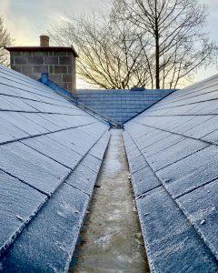 "alt=""Slate roof bungalow restoration with valleys"""